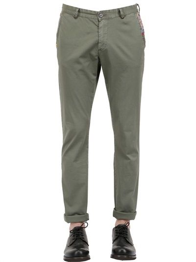 $170, Olive Chinos: BOB Strollers Light Stretch Cotton Twill Chino Pants. Sold by LUISAVIAROMA. Click for more info: https://lookastic.com/men/shop_items/188166/redirect