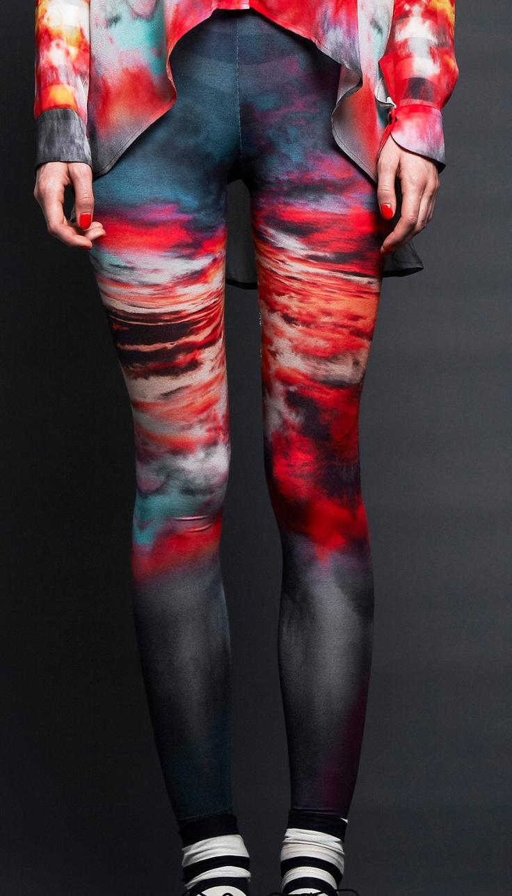 Romance in the Air print Legs Eleven Leggings   M/L. $89.00, via Etsy.