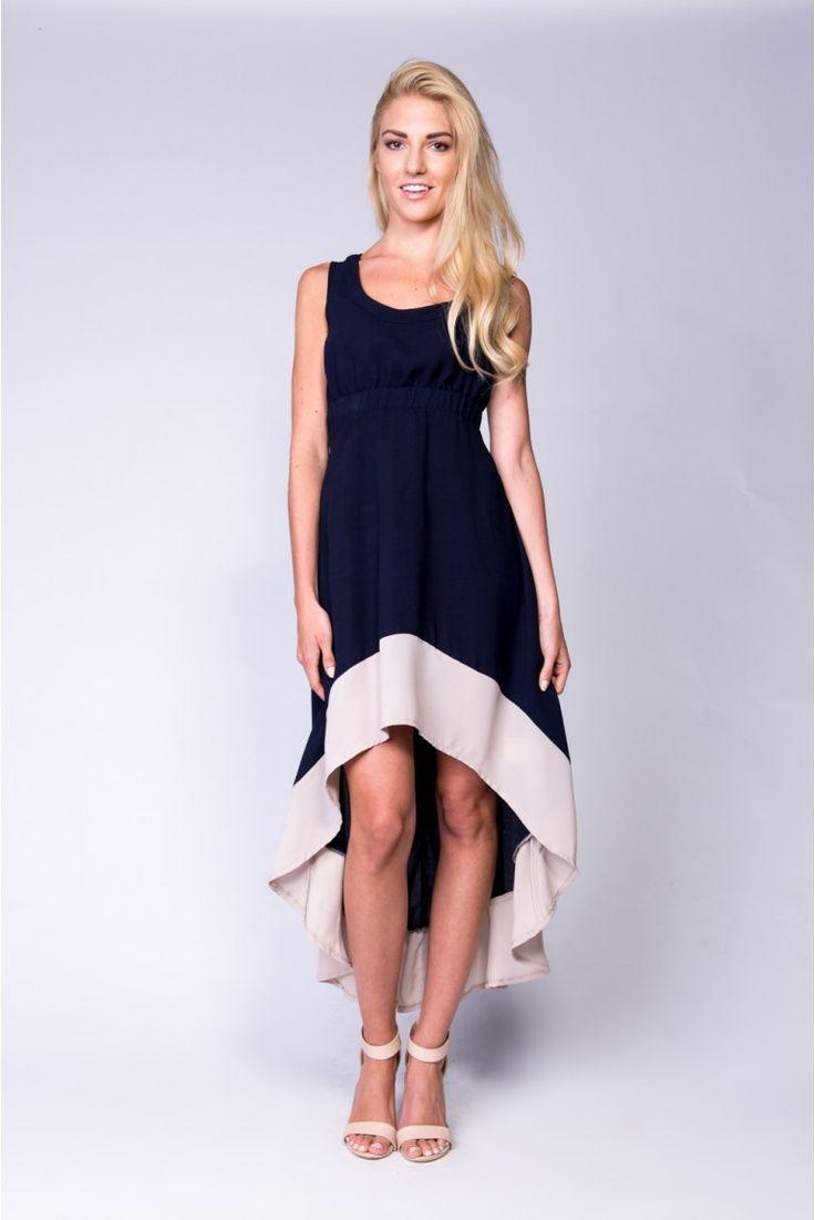 Asymetryczna sukienka #navy #granatowa #dress #sukienka #asymetric #asymetryczna #Depare