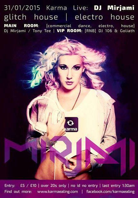 Poster DJ Mirjami live @ LONDON
