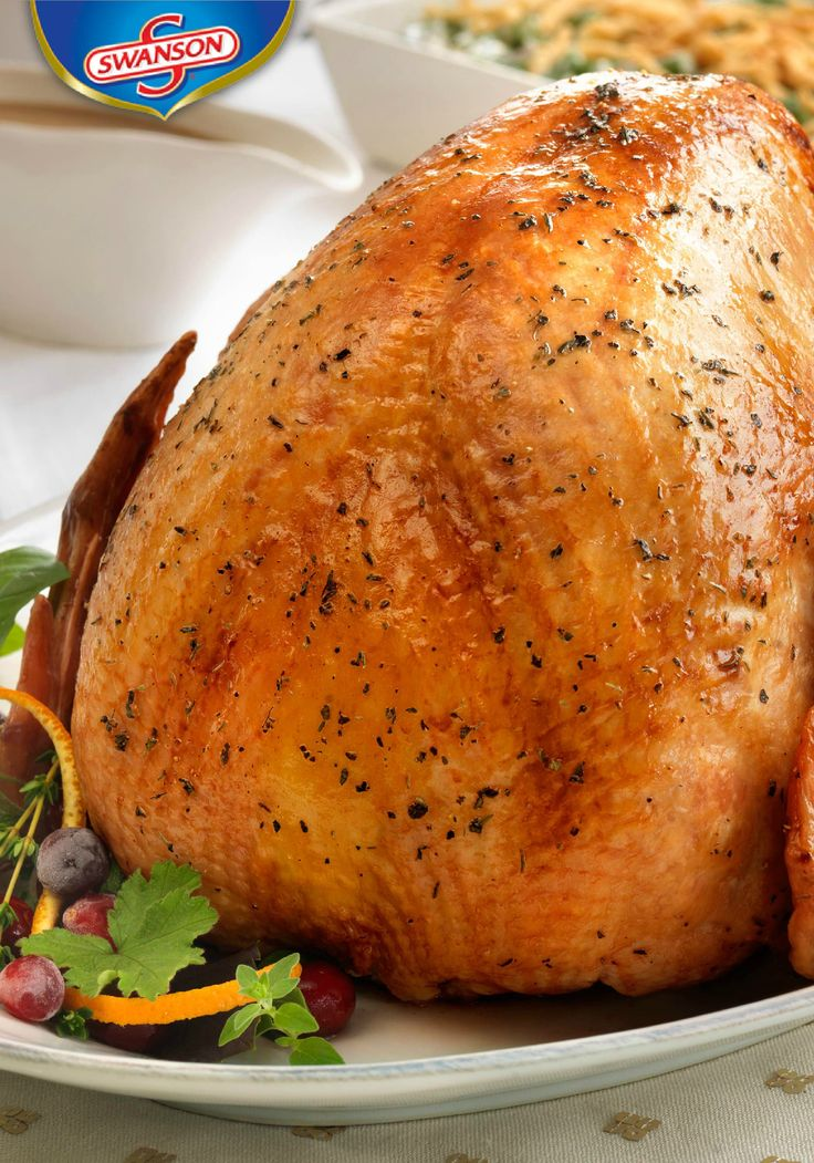 This is the kind of Thanksgiving dinner recipe that gets passed down from generation to generation. Our Herb Roasted Turkey with Pan Gravy ensures a moist and flavorful turkey every time. Simply pour the Swanson chicken stock—seasoned with lemon juice, basil, thyme and black pepper—over the bird, then baste with the pan drippings while it roasts.