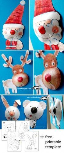 Santa & Reindeer ornaments