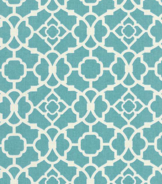 Waverly Upholstery Fabric-Lovely Lattice Aqua