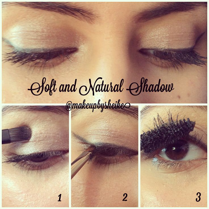 Soft and natural eye makeup look by Sheike.