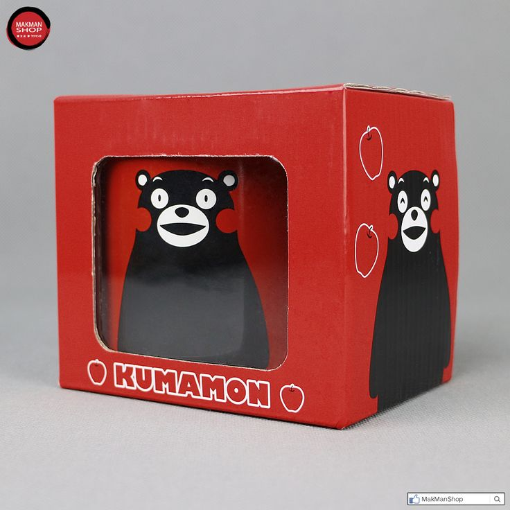 KUMAMON Kumamoto Black Bear Ceramics Mug Cup Gift Box Set (Red)