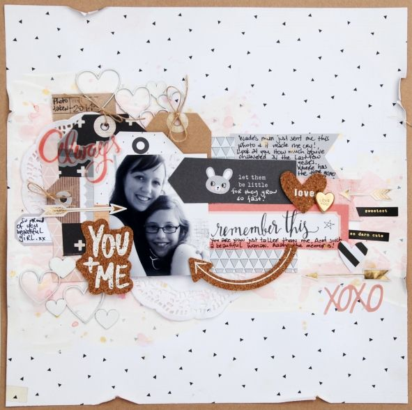 All About Scrapbooks - Crate Paper's Wonder Layout by Tammy Klingner