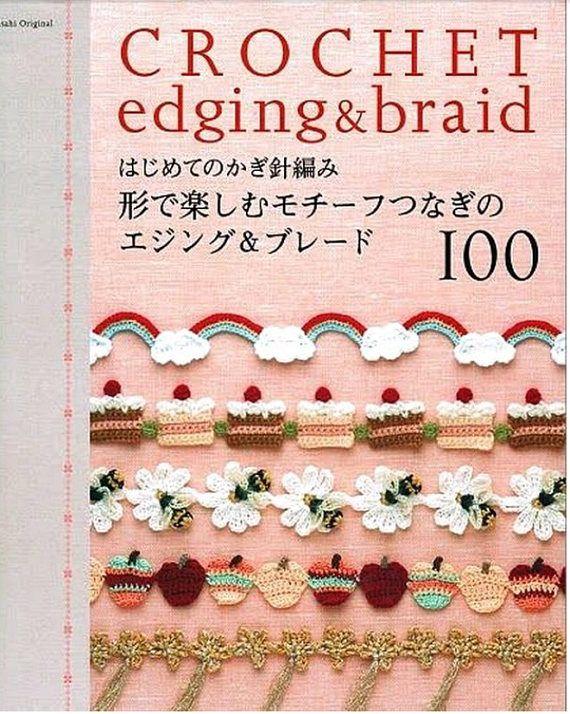 JAPANESE CROCHET PATTERN Crochet Edging and BraidAsahi