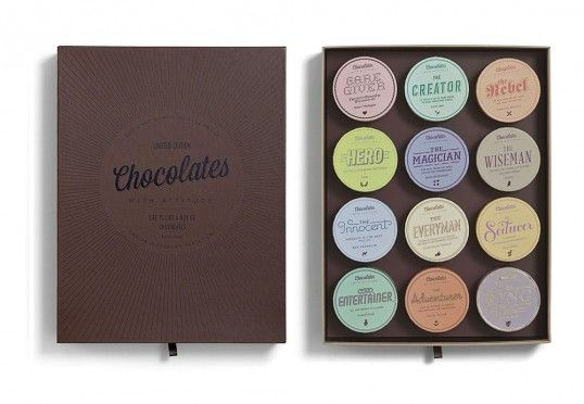 Chocolates With Attitude - Designed by Bessermachen | Country: Denmark #packaging #creative #design