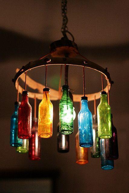 janetmillslove:  recycled bottle ligh moment love