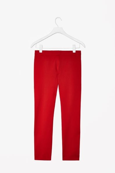 red trousers with back zip | cosstores