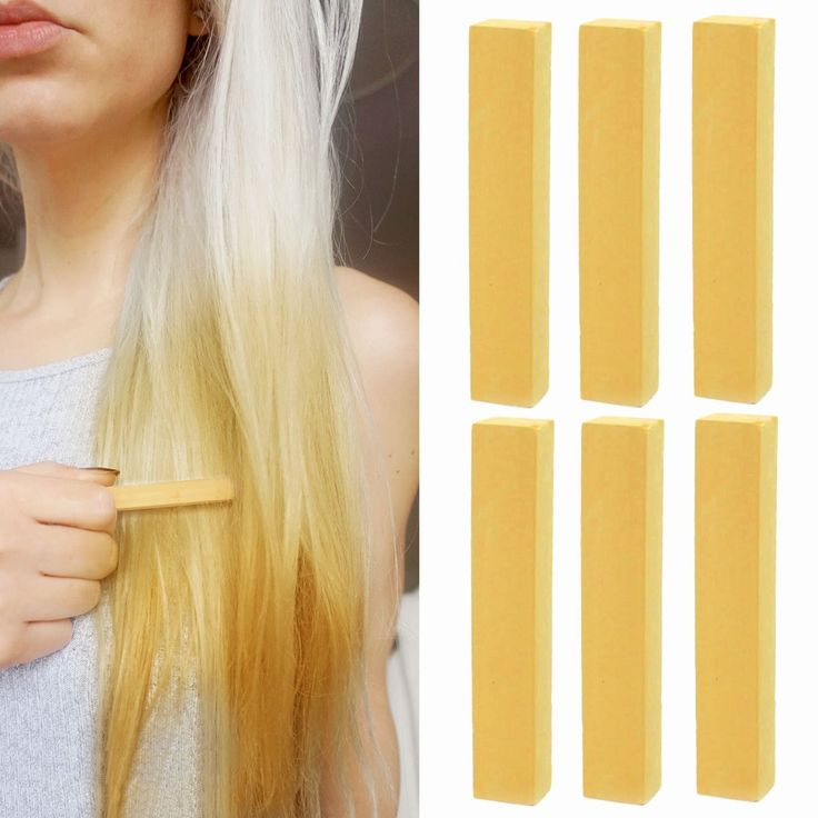 Best Temporary Golden BLONDE Hair Dye | Blonde Ombre Vibrant Hair Color | With Shades of Dark Blonde Beige A Pack of 6 Temporary Vibrant Hair Color | Color your Hair Caramel Blonde in seconds with temporary HairChalk ** For more information, visit image link.