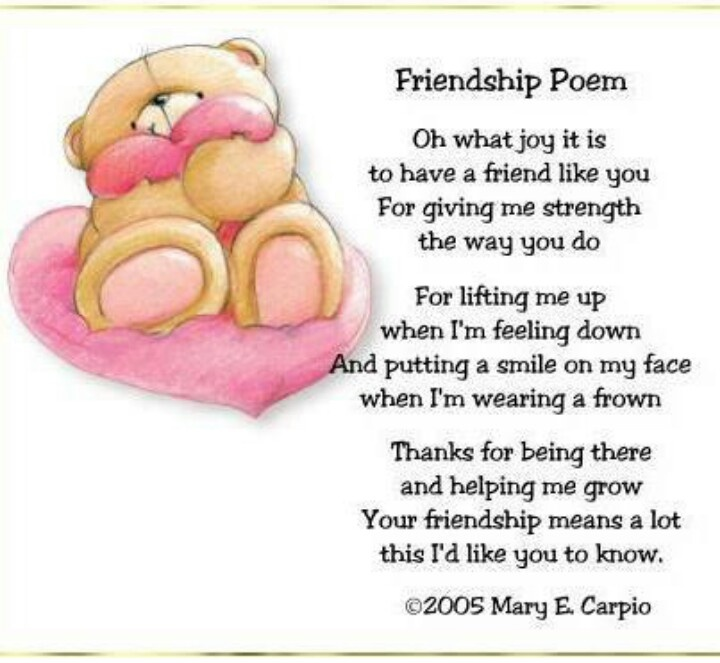 I Love My Family And Friends Poems 25+ Best Friendship Po...