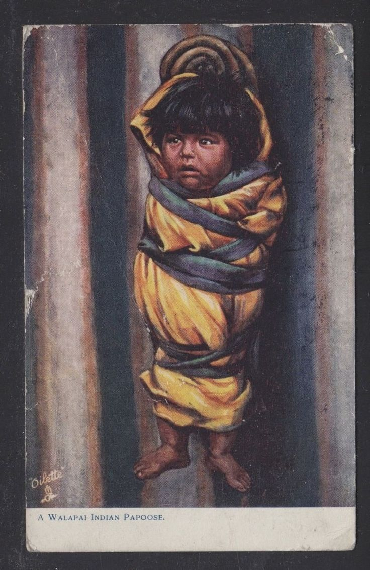 USA 1911 Walapai Indian Papoose Native American
