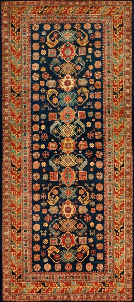 Afghan Shirvan Type Rug - 52 inches by 118 inches.
