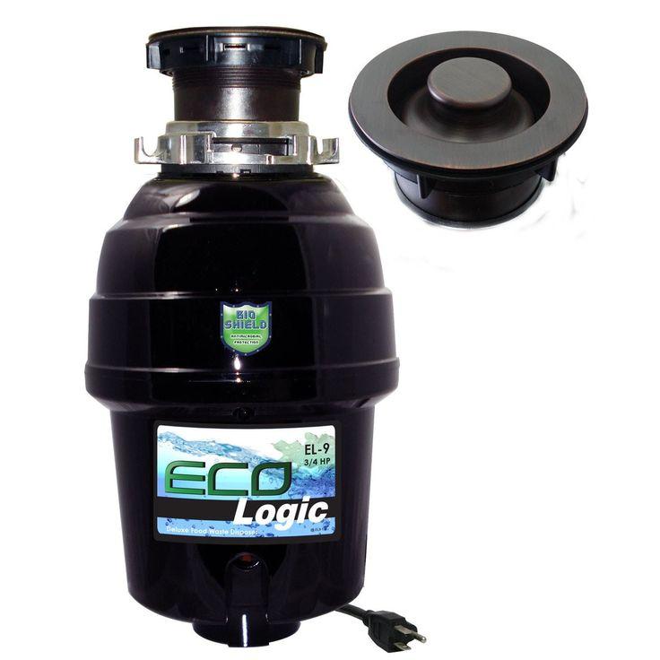 3/4 HP Eco-Logic 9 Deluxe Designer Series Food Waste Disposer