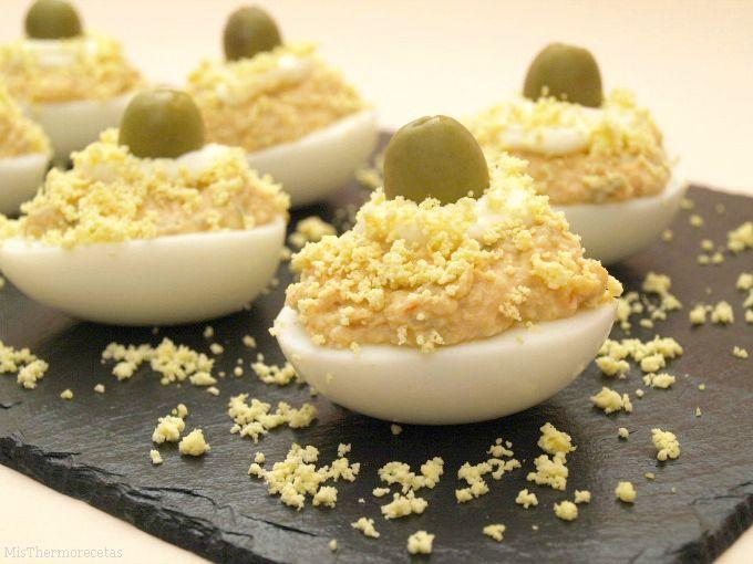 Huevos rellenos - MisThermorecetas