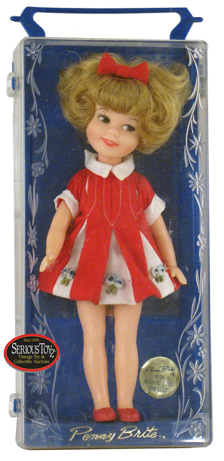 Penny Brite doll, 1964.  I had forgotten about her, but I still have her in that dress in a box.  Oh how I loved that doll.  I don't know why!