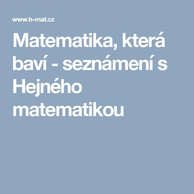 Matematika, která baví - seznámení s Hejného matematikou