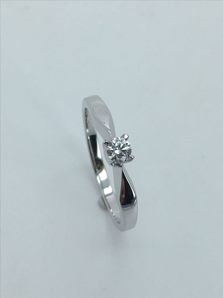 White Gold Ring with Diamond 0,103ct SI/E