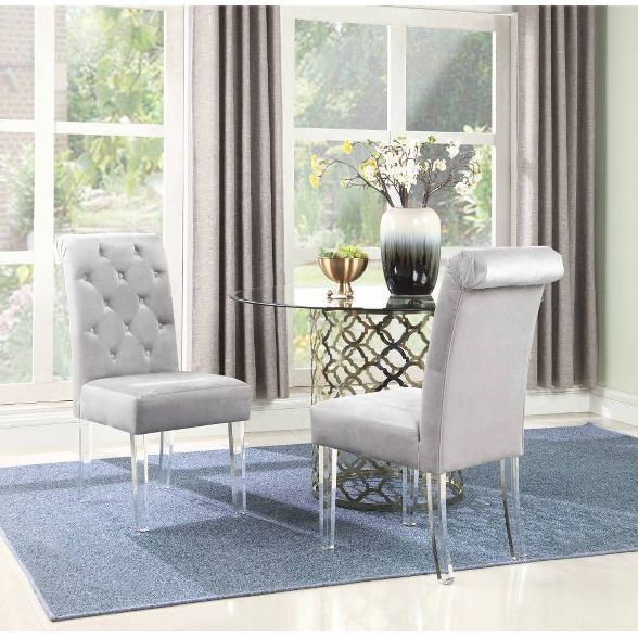 Set Of 2 Tate Dining Chair Gray Chic Home Design Dining Chair Upholstery Side Chairs Dining Dining Chairs