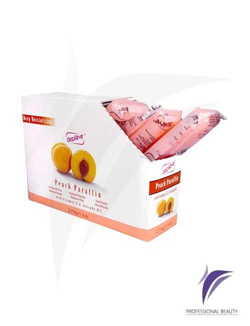 Parafina Melocotón x 6 Libras: Parafina con ligero aroma de melocotón que restablece el nivel óptimo de hidratación de la piel de forma duradera gracias a la vitamina E y aceite de melocotón.