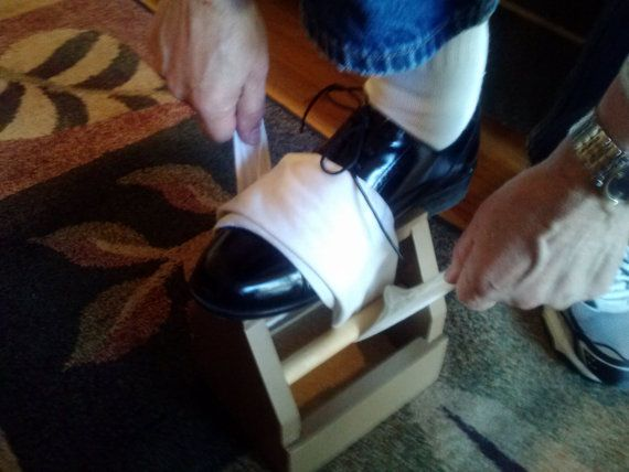 """You may ask, """"Why a Mini Shoeshine Box""""? When a full size shoeshine box just doesnt fit, you can take this one anywhere; keep it in your car or under"""