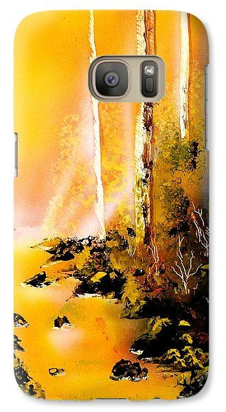 Yellow River Galaxy S7 Case Printed with Fine Art spray painting image Yellow River by Nandor Molnar (When you visit the Shop, change the orientation, background color and image size as you wish)