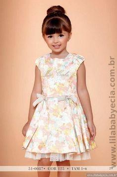Vestido Infantil Estampado Miss Cake Moda Infantil 510087