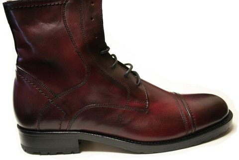 Mercanti Full Bordo Lace up Boot Hand made in Italy