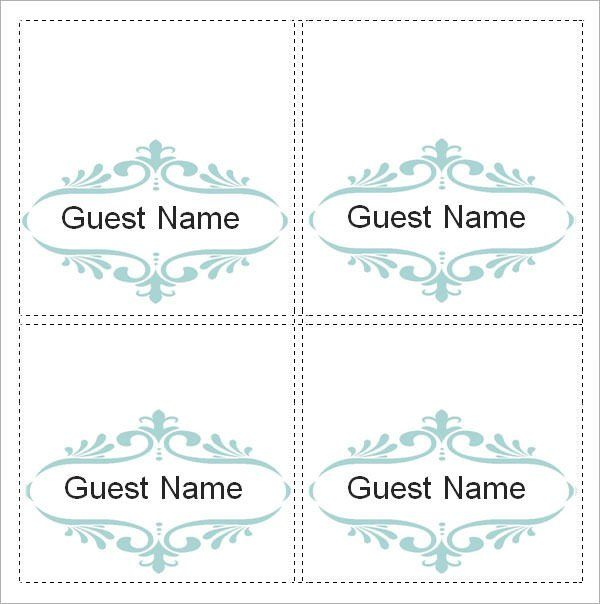 Place Card Template Free Sample Place Card Template 6 Free Documents Down Printable Place Cards Templates Wedding Place Card Templates Free Place Card Template