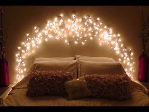 How-To Make your own icicle light faux headboard. This project is super easy and a fun way to create a soft twinkling glow in your room. Using Command damage-free decorating clips, Icicle lights can be applied easily to just about anywhere. Whether on your wall, existing headboard, around a window or doorway, ceiling, the options are endless! Ha...