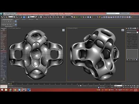 3d Tutorial | Cubic Gyroid Abstract | 3dsmax