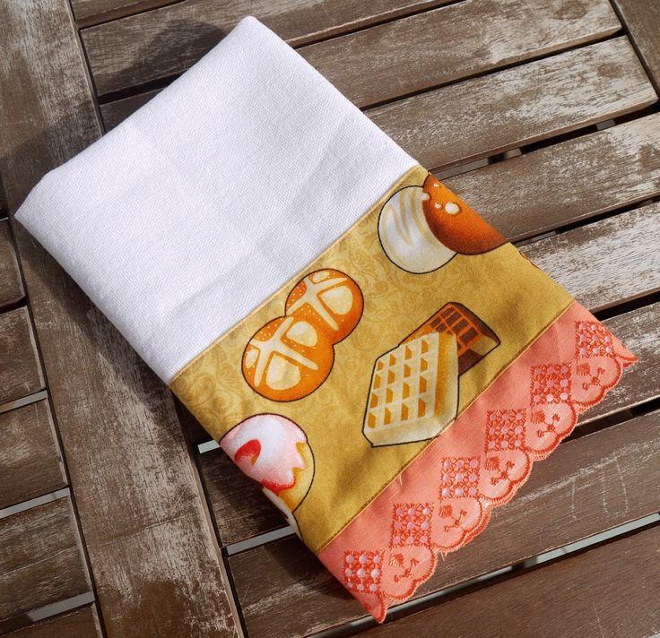 Pano de prato Biscoitos laranja