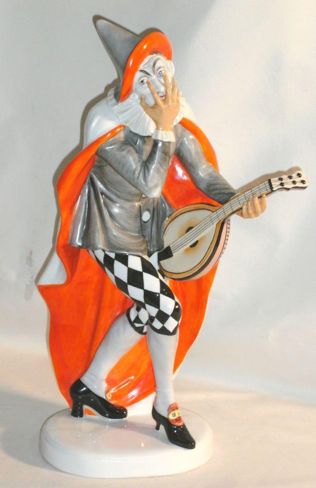 Art Deco Rosenthal BAJAZZO / CLOWN c.1917 by K.Himmelstoss Signed Figurine L864r #ArtDeco #Rosenthal