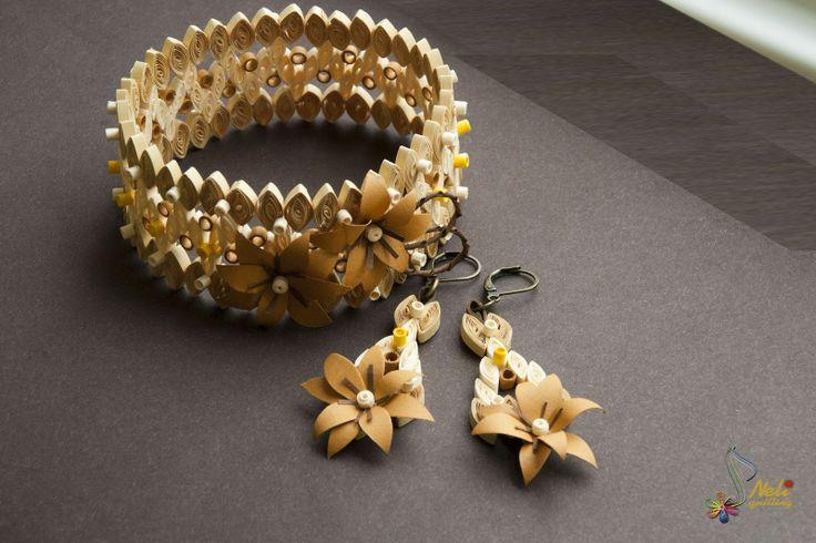 neli: Quilling bracelet and earrings