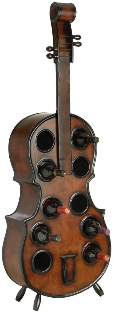 Hill Interiors Double Bass Wine Rack