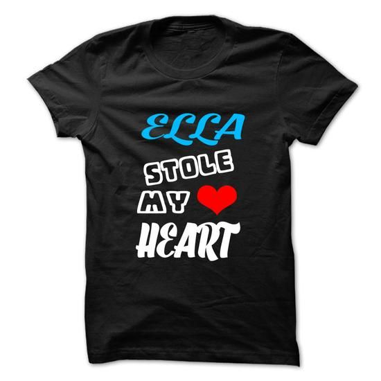 ELLA Stole My Heart - 999 Cool Name Shirt ! - #gift for friends #baby gift. BUY NOW => https://www.sunfrog.com/Hunting/ELLA-Stole-My-Heart--999-Cool-Name-Shirt-.html?60505