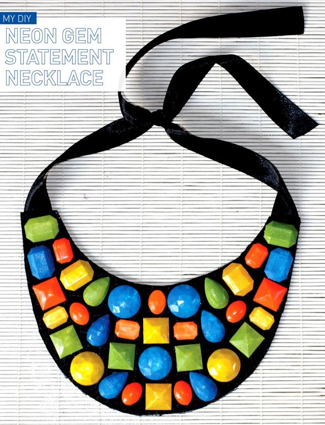 I Spy DIY: [My DIY] Neon Gem Necklace