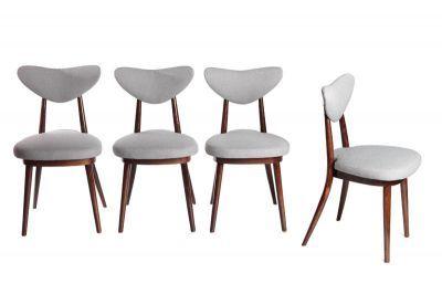 Krzesła drewno, tkanina, 79 x 42 x 45 cm, Polska, lata 1960-te