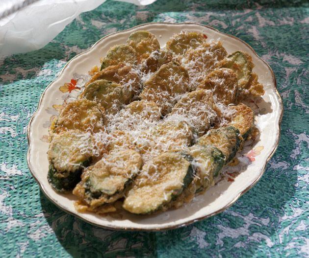 Fried zucchini with pecorino from Teresa Oates and Angela Villilla's Mangia! Mangia!