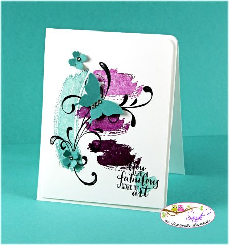 Stamping with Sandi: Work Of Art stamp set: Everything Eleanor stamp set: Blackberry Bliss and Lost Lagoon: