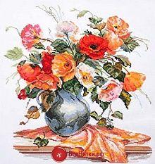 """2-11 Вышивка """"Поэзия цветов. Нежные маки"""""""