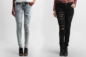 Resultado de imagem para calça jeans rasgadinha