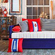 Для дома и интерьера ручной работы. Ярмарка Мастеров - ручная работа Морской бой подушки. Handmade.