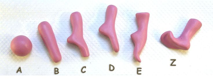 HowTo Make Polymer Clay (or gum paste) Feet