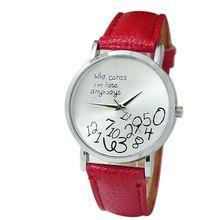 Hete nieuwe vosicar 2015 nieuwe vrouwen pu lederen horloge die geeft toch laat ik ben horloges legering polshorloge& groothandel freeshipping(China (Mainland))