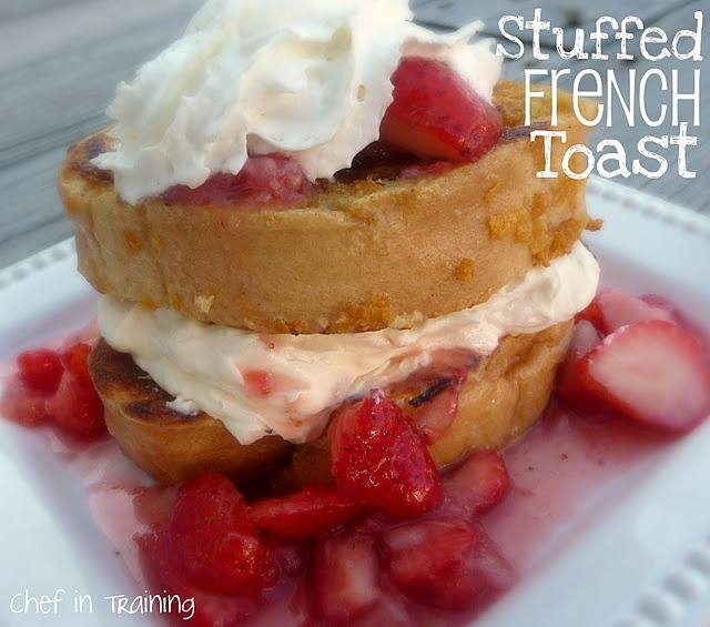 Stuffed French Toast!  This is such a DELICIOUS breakfast and really easy too!