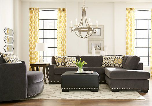 Sofia Vergara Laguna Beach Gray 3 Pc Sectional Living Room . $1,145.00.  Find affordable Living Room Sets for your home that will complement the rest of your furniture.