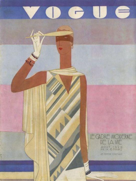 """Eduardo García Benito. Hot Weather Fashions. Serie: """"Portada revista internacional."""" Cartel. Papel. Reproducción litográfica. 1928."""