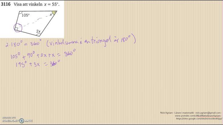 Matematik 5000 Ma 2a   Kapitel 3   Geometri   Geometri och bevis   3116